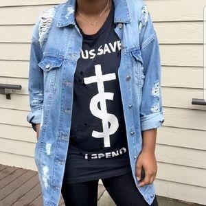 Jackets & Blazers - NWT Longline Oversized Jean jacket